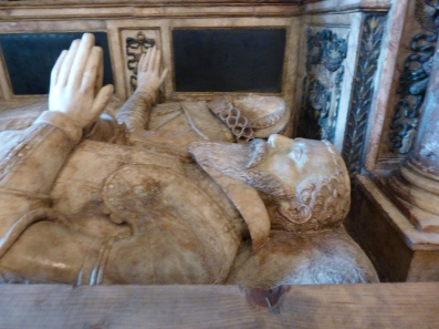 15 - Gregory Fiennes, Lord Dacre (d. 1595) and his wife Ann, nee Sackville - close-up