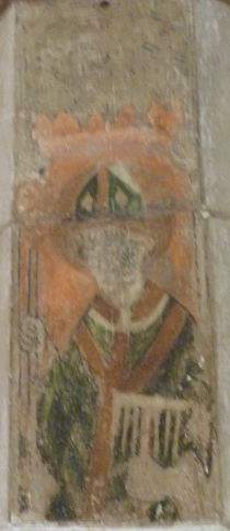 7 - Medieval wall painting of St Blaise