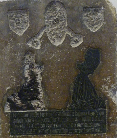 8 - Medieval brass memorial