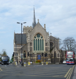 1 - The approach to the church from the south