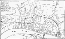 3 - Map of London playhouses and theatres in the sixteenth and seventeenth centuries