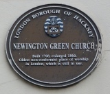4 - Newington Green Church plaque - Copy