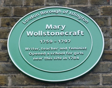 5 - Mary Wollstonecraft plaque - Copy