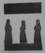 6 - Brass memorial to Mary Huxley (d. 1613)