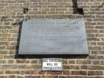Bishop Wood's Alms-Houses plaque
