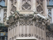 4 - Detail of carved badges (including Tudor Rose) and grotesques