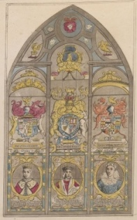 5 - Drawing of seventeenth-century east window
