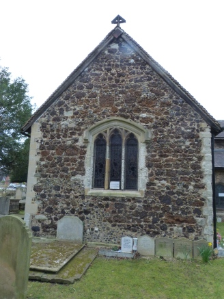 3 - Side elevation, showing later Medieval part of chancel