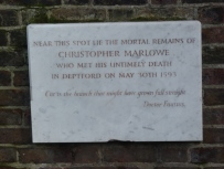 4 - Marlowe memorial plaque, Church of St Nicholas