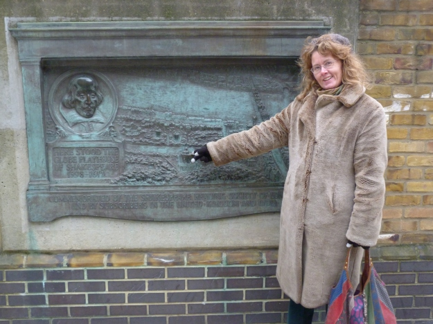 1 - Old plaque marking site of original Globe