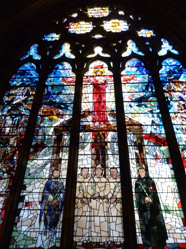 4 - Stained-glass window showing Catholic martyrs at Tyburn