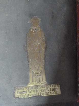 4 - Brass memorial to Sir John Andrew (d. 1479)