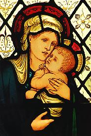 5 - Stained-glass window designed by Edward Burne-Jones and manufactured by William Morris (late nineteenth- century)