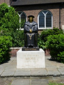 5 - Statue of More outside Chelsea Old Church