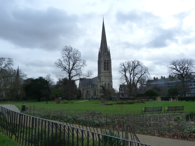 New church from Clissold Park