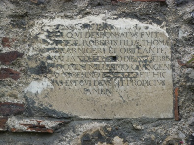 2 - Grave slab built into wall