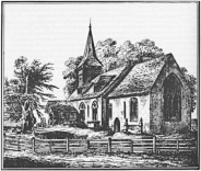 2 - View of church in 1795, before the nineteenth-century rebuilding work