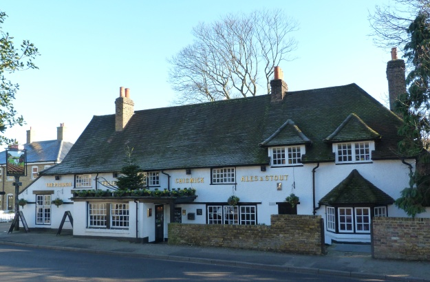 4 - The seventeenth-century Plough Inn, opposite the church