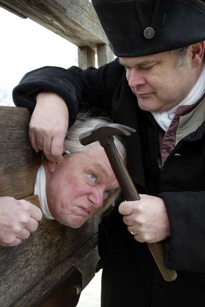 Re-enactment of ear-nailing in colonial America - Copy