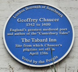 chaucer-plaque-site-of-tabard-inn-southwark