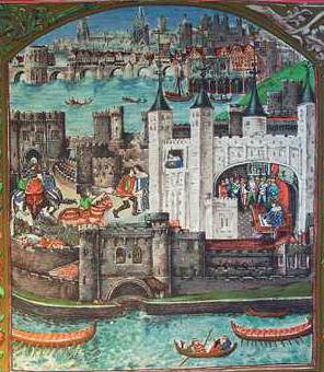 The Tower of London and London Bridge in the fifteenth century