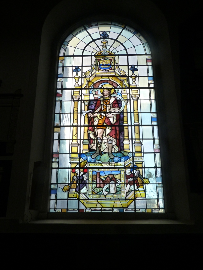 4 - Stained-glass window depicting St Magnus.JPG