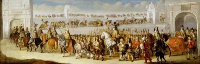 Charles II's coronation procession