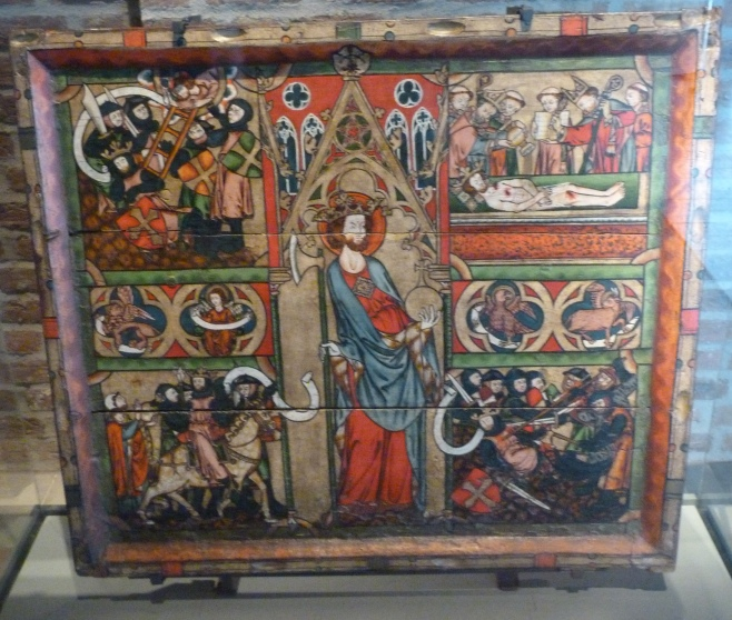 1 - Scenes from the life of St Olav (Archbishops' Palace, Trondheim).JPG