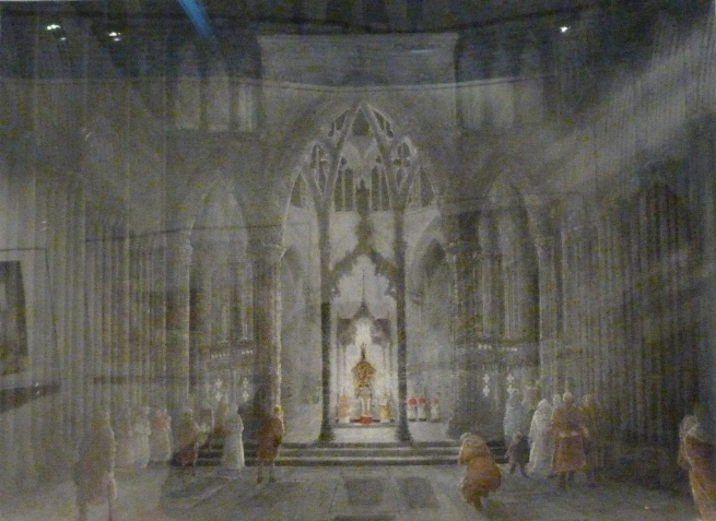 3 - Painting of interior of Nidaros Cathedral.JPG