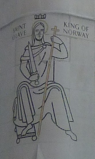 4 - Mosaic of St Olave, site of former church of St Olave Southwark