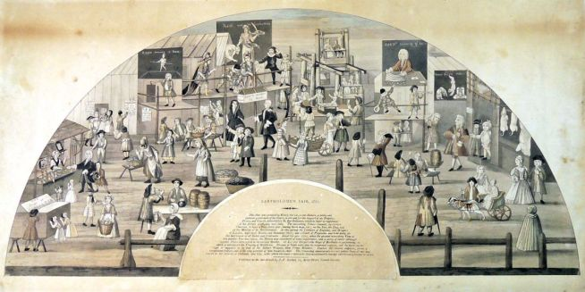 Bartholomew Fair fan (1721)