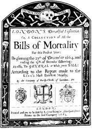 The Bills of Mortality for the Plague Year