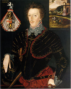 Sir Edward Hoby, as portrayed in 1583