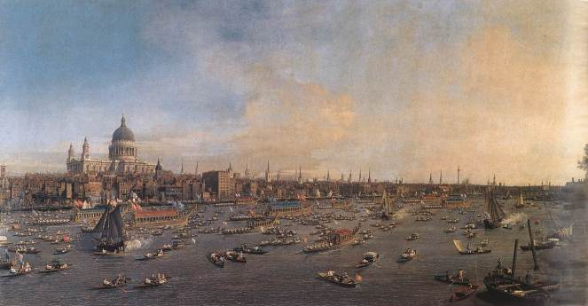The Lord Mayor's Show in 1746, by Canaletto
