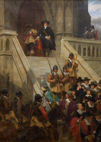 Cromwell dissolving the Long Parliament (Andrew Gow, 1907)