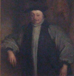 Portrait of Laud, church of St Katharine Cree