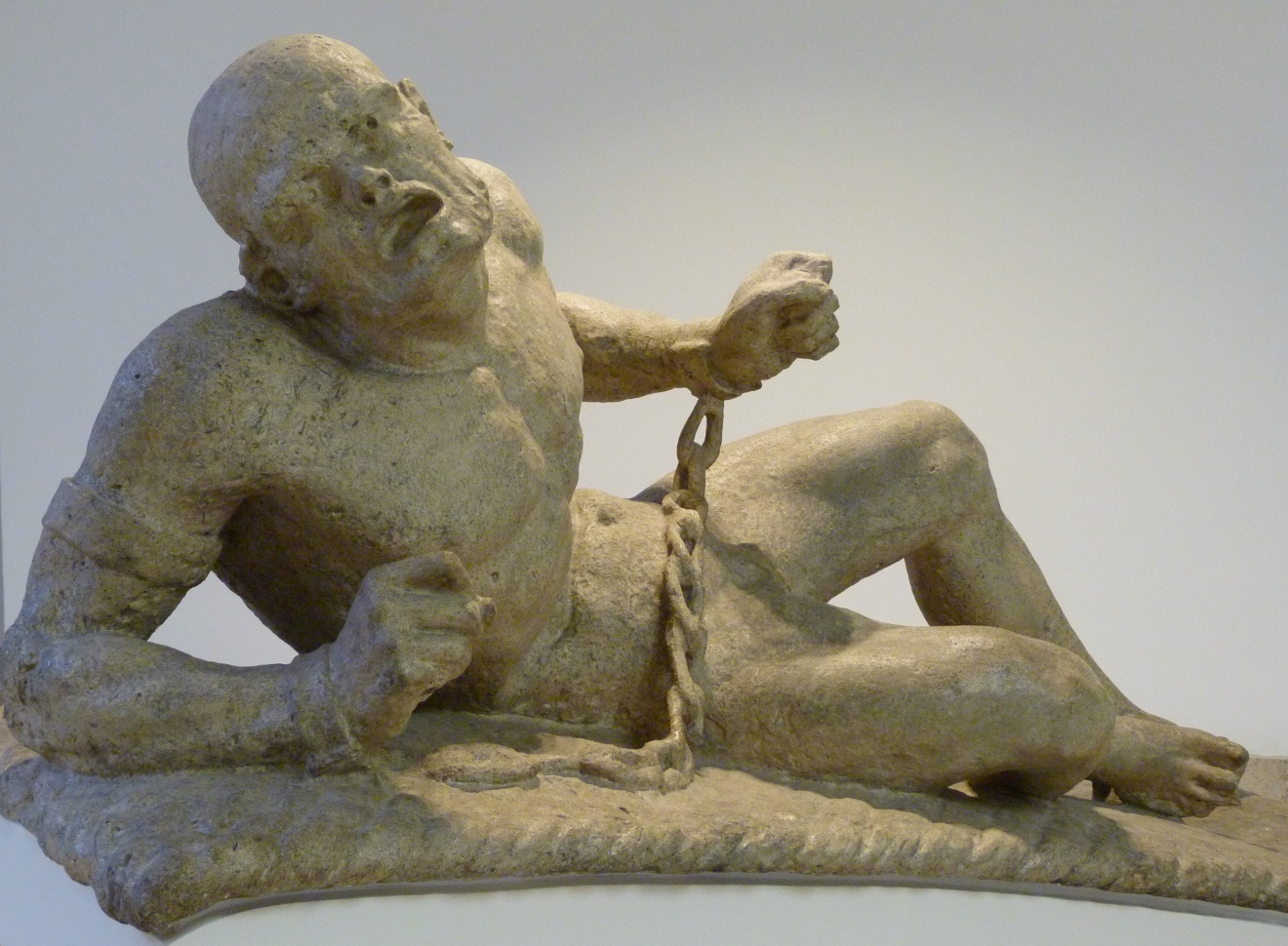 Statue of figure representing raving madness (mania).JPG