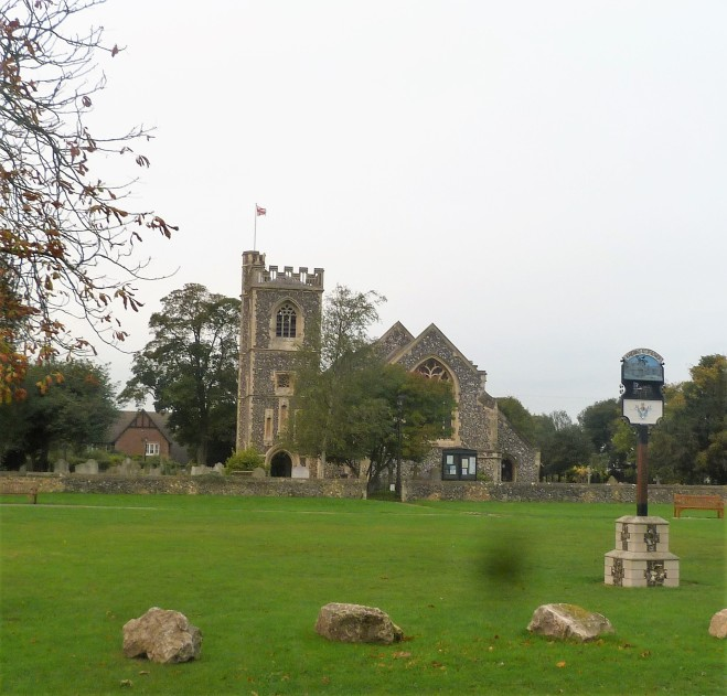 Village green and church.JPG