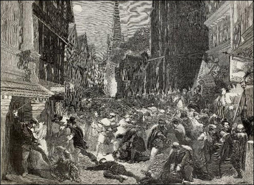 Nineteenth-century depiction of Evil May Day riot