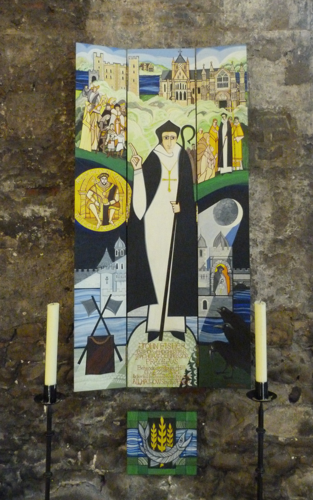 Fisher banner, All Hallows by the Tower.JPG