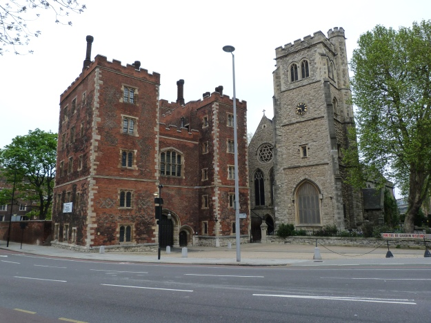 1 - Entrance to Lambeth Palace and Church of St Mary at Lambeth.JPG