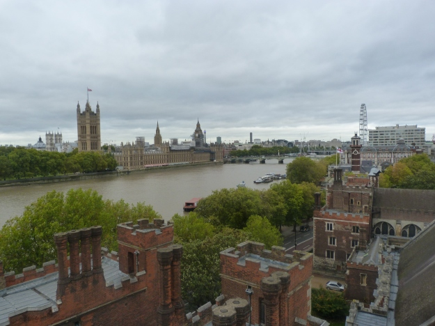 3 - View of Lambeth Palace - and Palace of Westminster - from tower of church.JPG