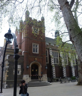 General view of exterior of Middle Temple Hall