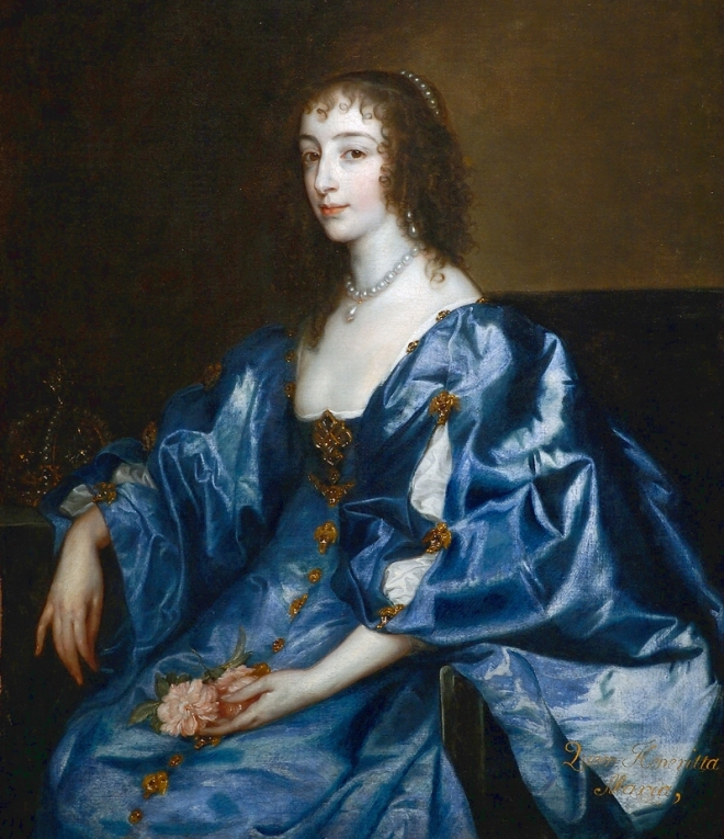 Anthony van Dyck's portrait of Henrietta Maria.jpg