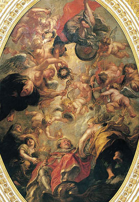 Detail from Rubens's ceiling