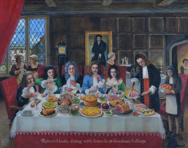 Hooke entertaining friends to dinner - Copy.jpg