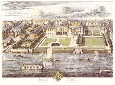 Somerset House in 1722 (Kip)