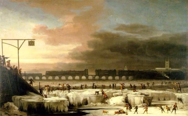 The Frozen Thames in 1677