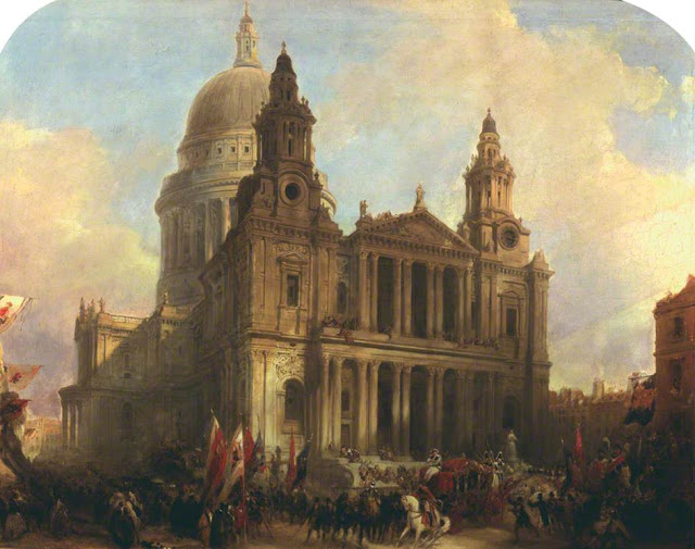 The Lord Mayor's Show in 1836, by David Roberts
