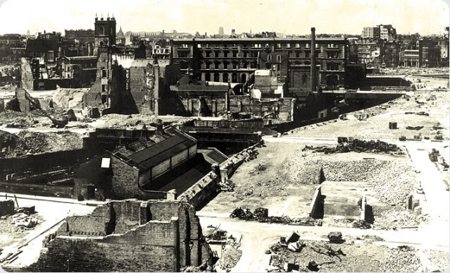 1 - What was left of Cripplegate after the bombing of the Second World War